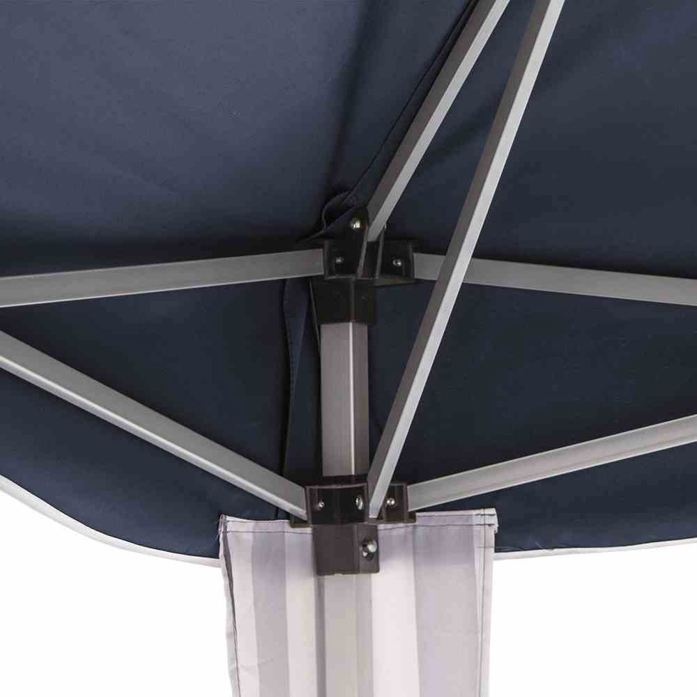pavillon gartenpavillon faltbar 300 x 300 cm blau wei. Black Bedroom Furniture Sets. Home Design Ideas