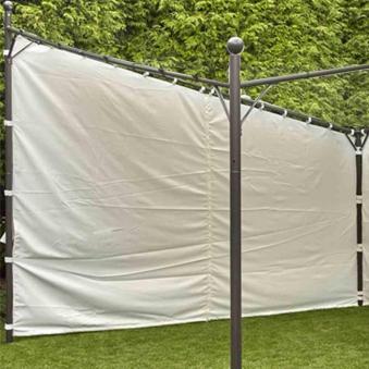 Seitenteile zu Siena Garden Pavillon Berlino 4m 2 Stück weiß