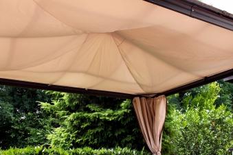 sonnenschutzsegel f r leco profi pavillon 365x300cm natur bei. Black Bedroom Furniture Sets. Home Design Ideas