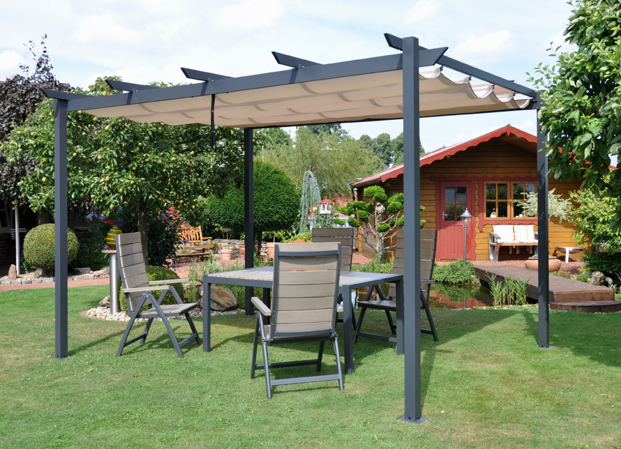 terrassen berdachung sonnenschutz markise pergola leco 300x400cm bei. Black Bedroom Furniture Sets. Home Design Ideas
