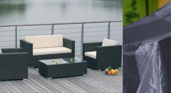 Schutzhülle / Abdeckhaube acamp für Lounge Set mittel 205x150cm Bild 2