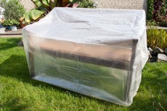 Schutzhülle / Abdeckhaube für Gartenbank beo transparent 160x75x78cm Bild 1