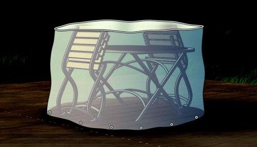 Schutzhülle / Abdeckhaube für Sitzgruppe oval beo transparent 180cm Bild 1