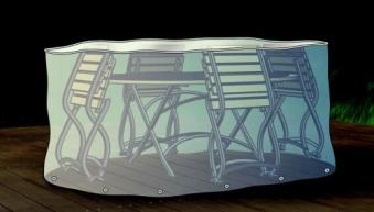 Schutzhülle / Abdeckhaube für Sitzgruppe oval beo transparent 230cm Bild 1