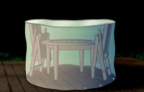 Schutzhülle / Abdeckhaube für Sitzgruppe rund beo transparent 200cm Bild 1