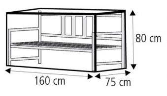 Schutzhülle Wehncke Classic für Gartenbank 160x75x80cm transparent Bild 2
