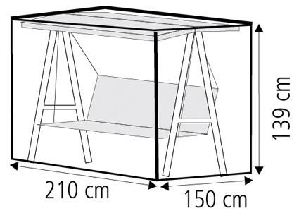 Schutzhülle Wehncke Classic für Gartenschaukeln 210x150x139cm transp. Bild 2