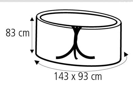 Schutzhülle Wehncke Classic für Gartentisch oval 143x93x83 transparent Bild 2