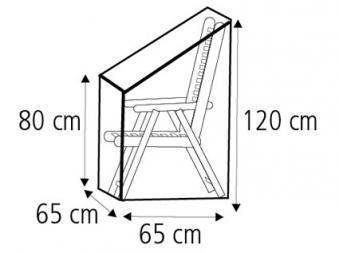 Schutzhülle Wehncke Classic für Klappstuhl / Relaxstuhl 65x65x120cm Bild 2