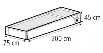 Schutzhülle Wehncke Classic für Rollenliege 200x75x45cm transparent Bild 2