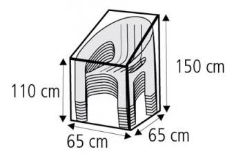 Schutzhülle Wehncke Classic für Stapelsessel 65x65x150cm transparent Bild 2