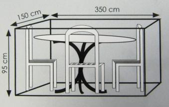 Schutzhülle Wehncke Deluxe 350x150x95cm Polyester anthrazit Bild 2