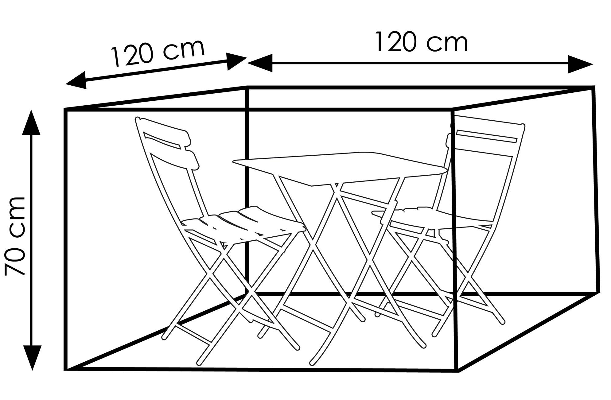 Schutzhülle Wehncke Deluxe für Balkon-Sets 120x120x70cm anthrazit Bild 2
