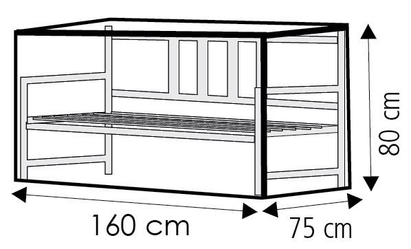 Schutzhülle Wehncke Deluxe für Gartenbank 160x75x80cm anthrazit Bild 2
