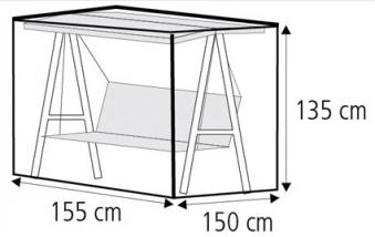 Schutzhülle Wehncke Deluxe für Gartenschaukel 155x150x135cm anthrazit Bild 2