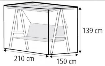 Schutzhülle Wehncke Deluxe für Gartenschaukel 210x150x139cm anthrazit Bild 2