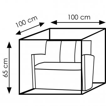 Schutzhülle Wehncke Deluxe für Lounge Elemente 100x100x65cm anthrazit Bild 2