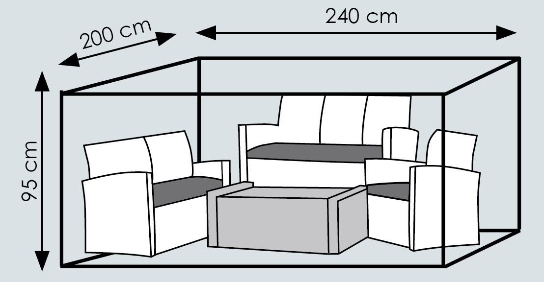 Schutzhülle Deluxe Wehncke für Lounge Möbel 240x200x95cm anthrazit ...