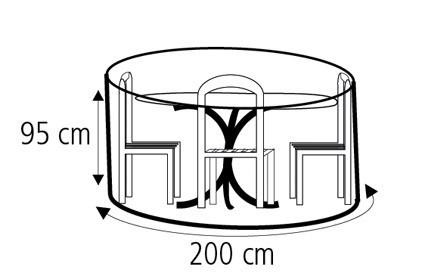 Schutzhülle Wehncke Deluxe für Sitzgruppe Ø200x95cm anthrazit Bild 2