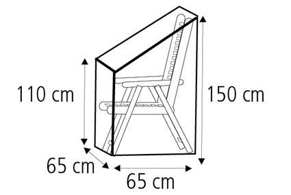 Schutzhülle Wehncke Deluxe für Stapelsessel 65x65x150cm anthrazit Bild 2