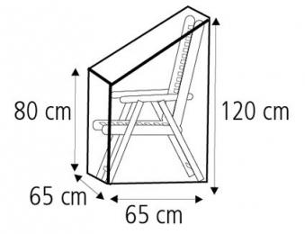Schutzhülle Wehncke Deluxe für Stapelstuhl / Relaxsessel 65x65x120cm Bild 2