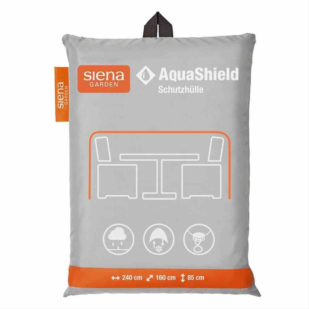 Schutzhülle für Sitzgruppe Siena Garden AquaShield grau 240x160x85cm Bild 1