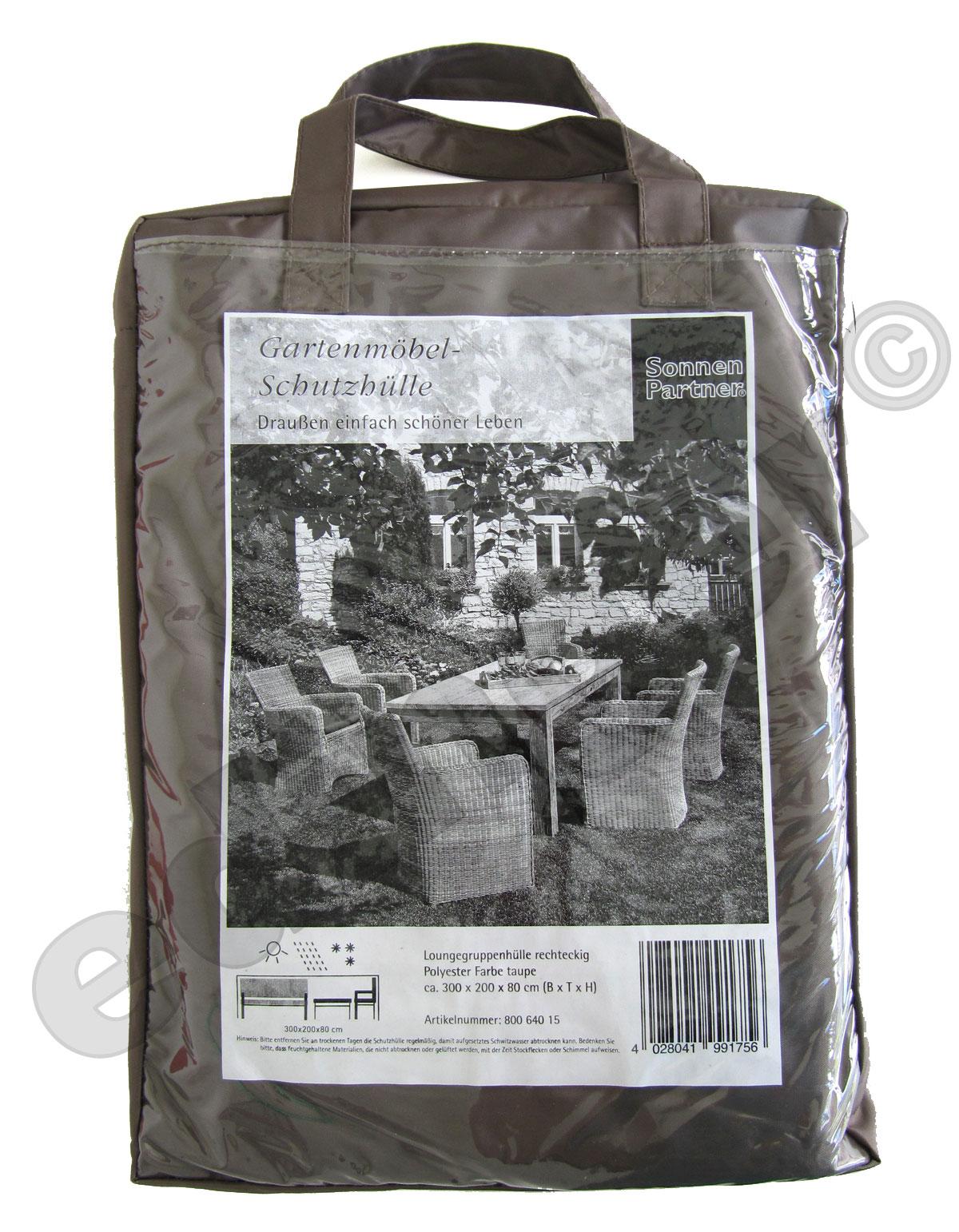 Schutzhülle für Sonnenpartner Gartenmöbel Sitzgruppe 300x200cm ...