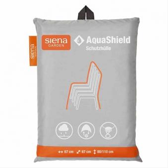 Schutzhülle für Stapelstuhl Siena Garden AquaShield grau 67x67x110cm Bild 1