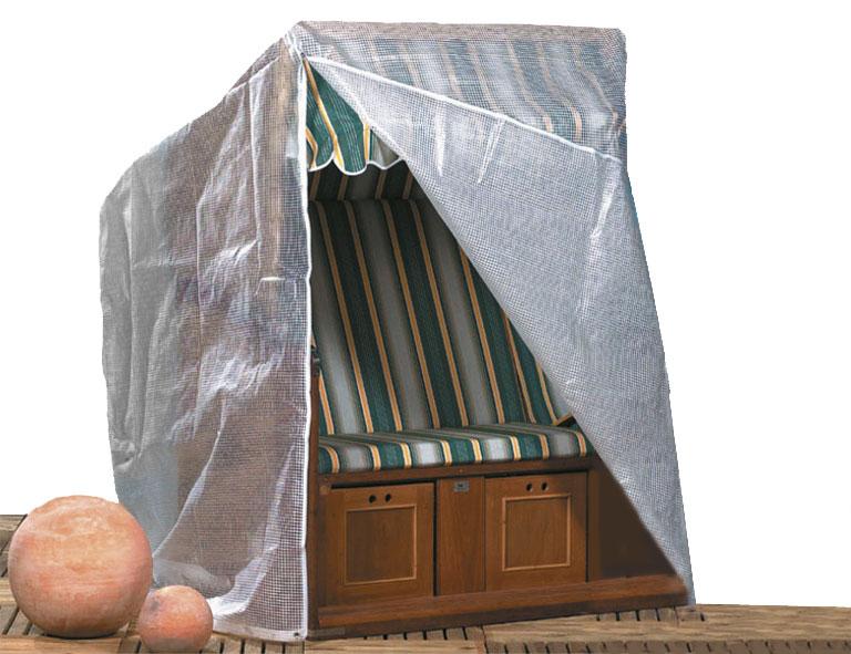 schutzh lle f r strandkorb 135x115x180cm transparent bei. Black Bedroom Furniture Sets. Home Design Ideas