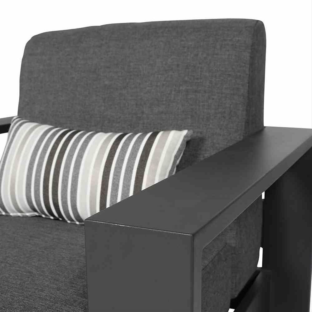 Aluminium Lounge Sessel Siena Garden Alando anthrazit/grau Bild 4