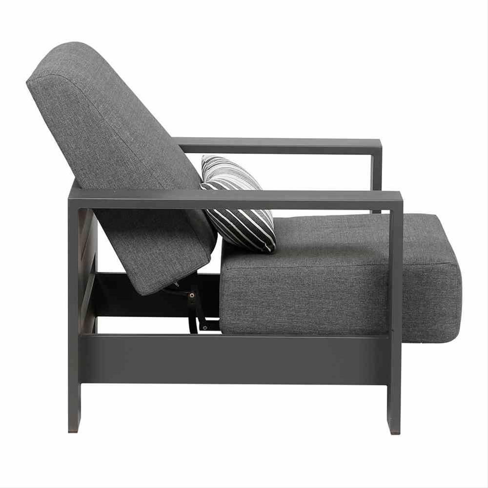 Aluminium Lounge Sessel Siena Garden Alando anthrazit/grau Bild 5