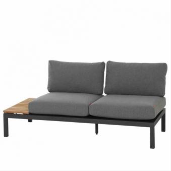 Aluminium Lounge Modul 2-Sitzer links Siena Garden Alvida anthrazit Bild 1
