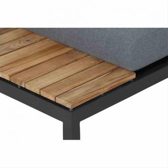 Aluminium Lounge Modul 2-Sitzer links Siena Garden Alvida anthrazit Bild 2