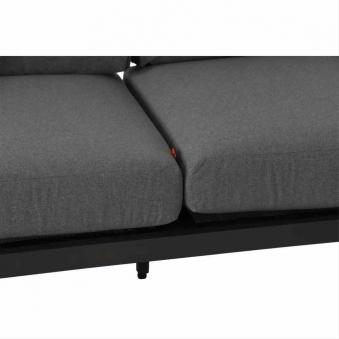 Aluminium Lounge Modul 2-Sitzer links Siena Garden Alvida anthrazit Bild 3