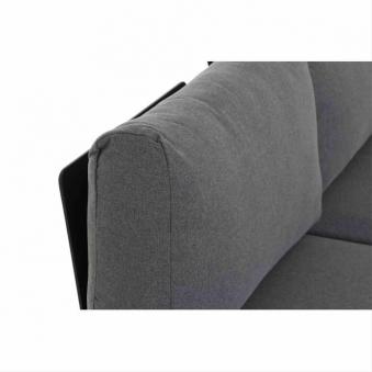 Aluminium Lounge Modul 2-Sitzer links Siena Garden Alvida anthrazit Bild 4