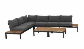 Aluminium Lounge Modul 2-Sitzer links Siena Garden Alvida anthrazit Bild 5