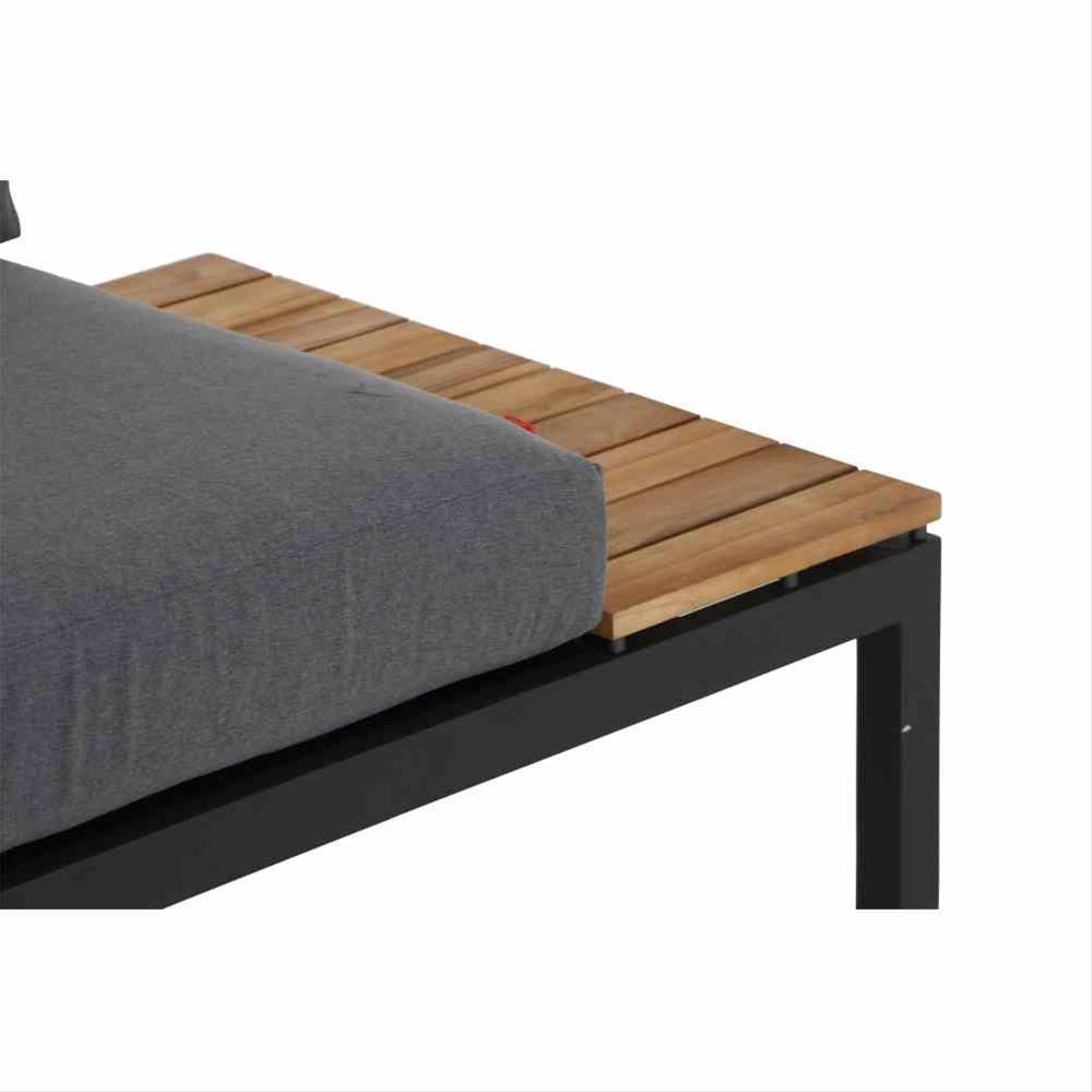 Aluminium Lounge Modul 2-Sitzer rechts Siena Garden Alvida anthrazit Bild 4