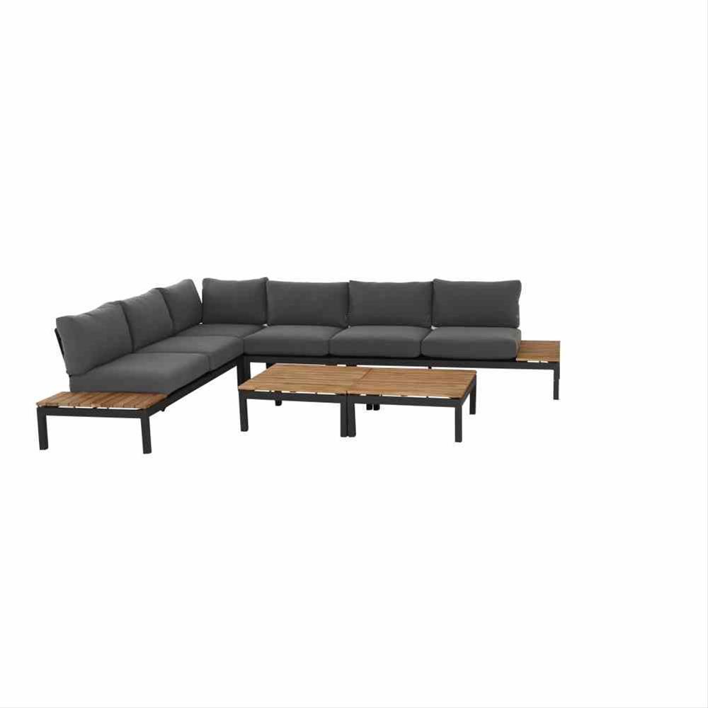 Aluminium Lounge Modul 2-Sitzer rechts Siena Garden Alvida anthrazit Bild 5