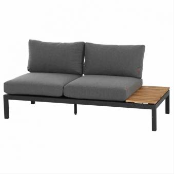 Aluminium Lounge Modul 2-Sitzer rechts Siena Garden Alvida anthrazit Bild 1