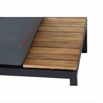 Aluminium Lounge Modul 2-Sitzer rechts Siena Garden Alvida anthrazit Bild 2