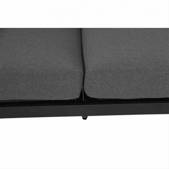 Aluminium Lounge Modul 2-Sitzer rechts Siena Garden Alvida anthrazit Bild 3