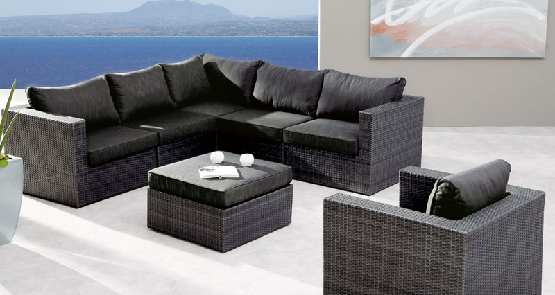 awesome garten loungemobel anthrazit contemporary, Terrassen ideen