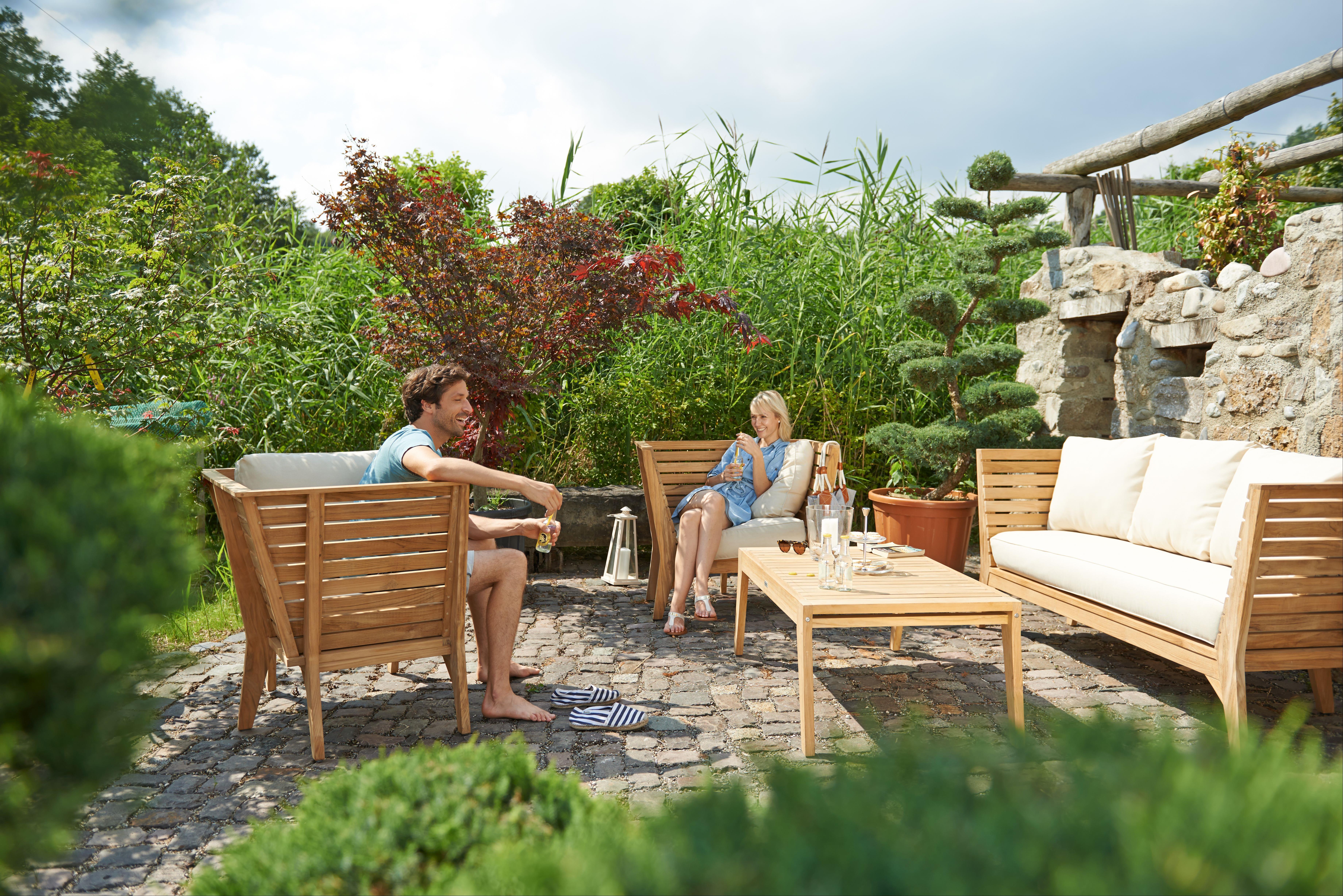 Gartenmöbel / Lounge Möbel Set acamp Aurora 4tlg. Teak - bei ...