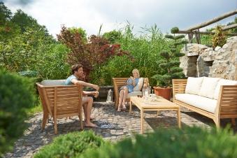 Gartenmöbel / Lounge Möbel Set acamp Aurora 4tlg. Teak Bild 1