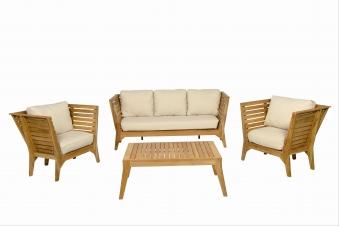 Gartenmöbel / Lounge Möbel Set acamp Aurora 4tlg. Teak Bild 3