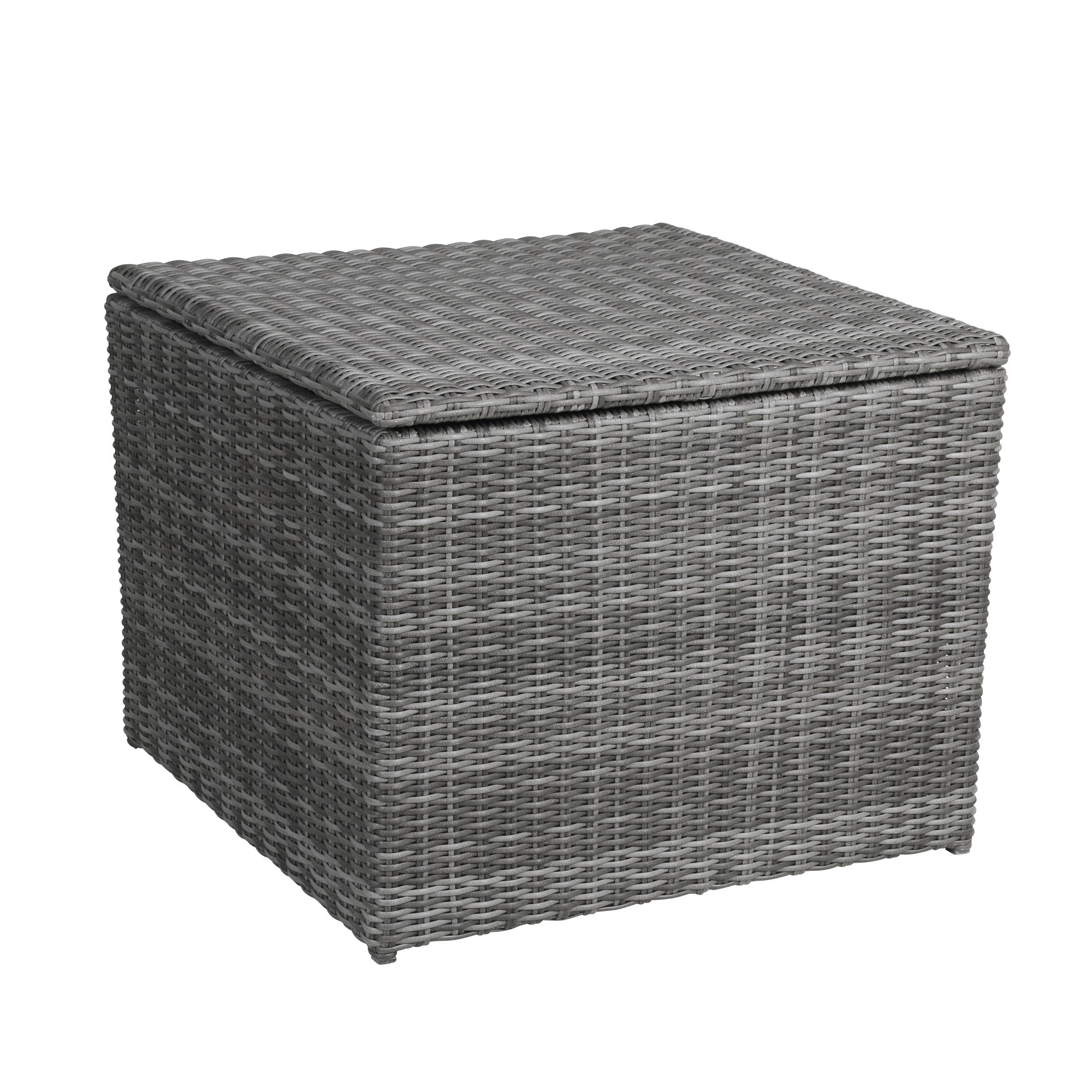 Kissenbox /  Auflagenbox Bari greemotion Polyrattan grau 80x80cm Bild 1