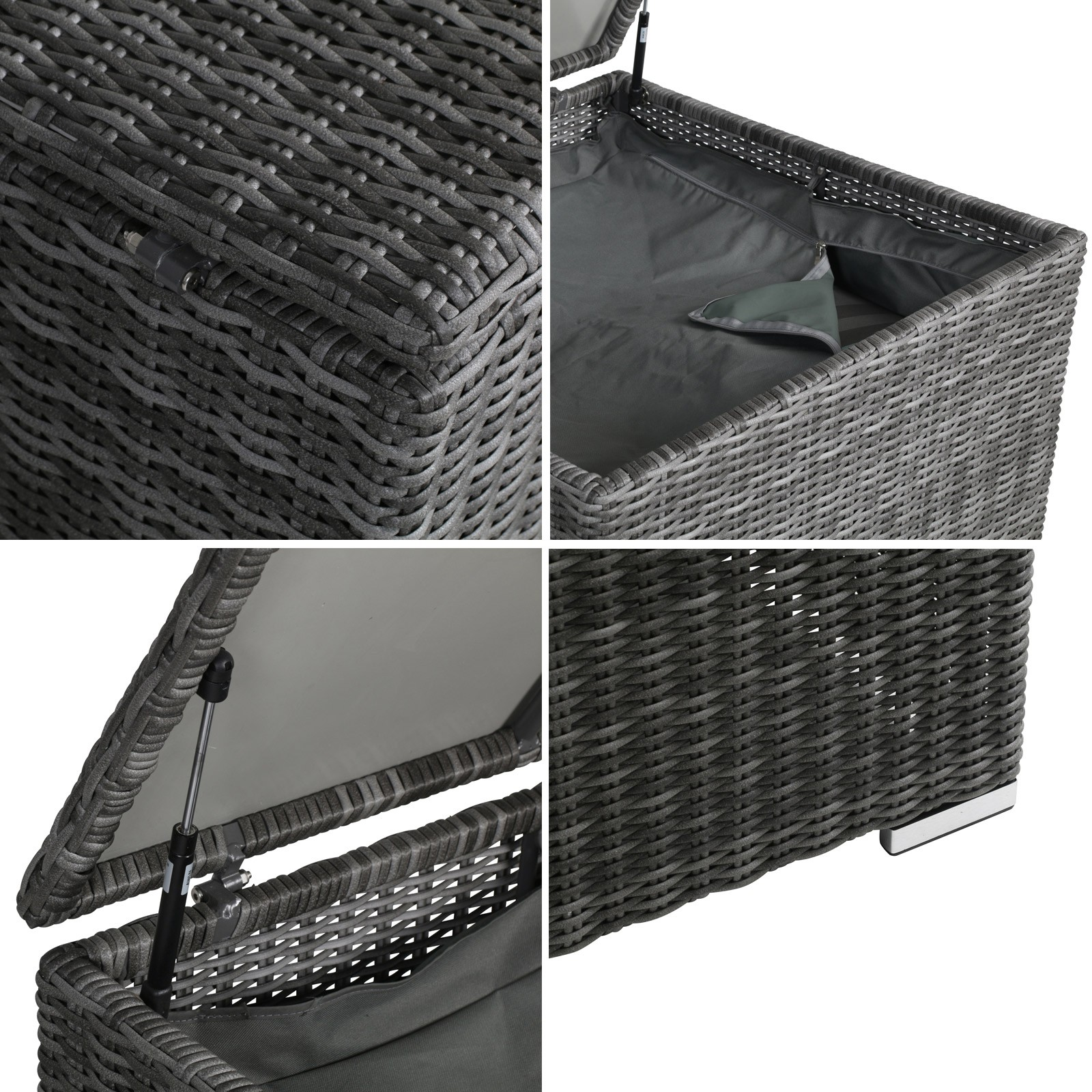 polyrattan auflagenbox affordable von kostenloser versand xxl polyrattan auflagenbox gartenbox. Black Bedroom Furniture Sets. Home Design Ideas