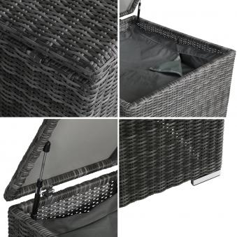 Kissenbox /  Auflagenbox Bari greemotion Polyrattan grau 80x80cm Bild 3