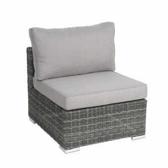 Loungemöbel Sessel Bari greemotion Polyrattan grau 70x80cm
