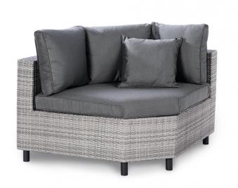 Eckteil groß für Loungemöbel Bonaire Best Polyrattan grau Bild 1